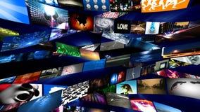 Het videomuurmedia Stromen (HD) royalty-vrije illustratie