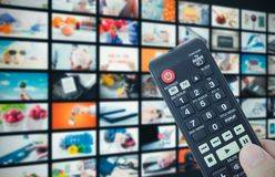 Het videomuurtelevisie-uitzending van verschillende media royalty-vrije stock foto