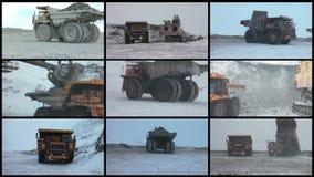 Het videoproces van de MuurMijnbouw stock footage