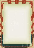 Het Vierde van Grunge van de Achtergrond van de Affiche van Juli royalty-vrije illustratie