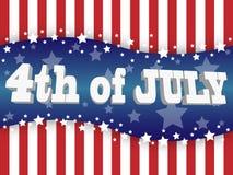 Het vierde van juli Stock Foto