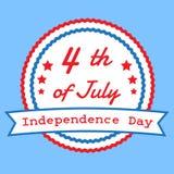 Het vierde van Juli, Amerikaanse Onafhankelijkheidsdag Stock Afbeelding