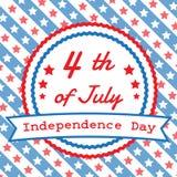 Het vierde van Juli, Amerikaanse Onafhankelijkheidsdag Stock Foto