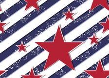 Het vierde van Juli-de naadloze achtergrond van de onafhankelijkheidsdag, perfectioneert voor uitnodigingen of aankondigingen vector illustratie
