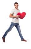Het vieren de Dag van de Valentijnskaart Stock Afbeelding