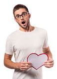 Het vieren de Dag van de Valentijnskaart Stock Foto's