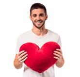 Het vieren de Dag van de Valentijnskaart Stock Afbeeldingen