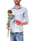 Het vieren de Dag van de Valentijnskaart Royalty-vrije Stock Afbeelding