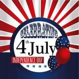 Het vieren four juli Royalty-vrije Stock Afbeelding