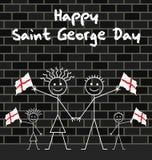 Het vieren Heilige George dag Stock Afbeelding