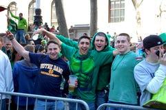 Het vieren Heilige Patrick Dag in de Stad van New York royalty-vrije stock afbeelding
