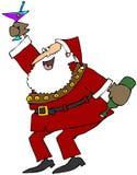 Het vieren Kerstman Royalty-vrije Stock Foto