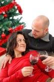 Het vieren Kerstmis Stock Fotografie