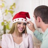 Het vieren Kerstmis Stock Foto's
