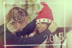 Het vieren Kerstmis Royalty-vrije Stock Foto's
