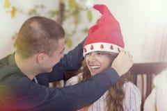 Het vieren Kerstmis Royalty-vrije Stock Fotografie