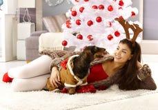 Het vieren Kerstmis Stock Afbeelding