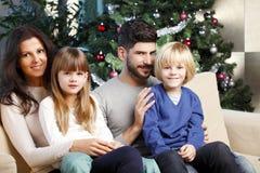 Het vieren Kerstmis Stock Foto