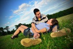 Het vieren liefde Stock Foto