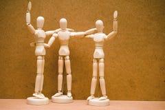 Het vieren mannequins. Stock Foto