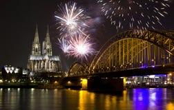 Het vieren Nieuwjaar in Keulen Royalty-vrije Stock Foto's