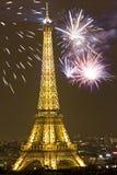 Het vieren Nieuwjaar ` s in Parijs Royalty-vrije Stock Foto