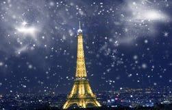 Het vieren Nieuwjaar ` s in Parijs Royalty-vrije Stock Fotografie