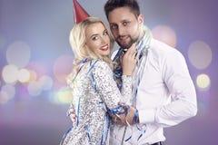 Het vieren Nieuwjaar` s Vooravond royalty-vrije stock foto