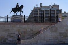 Het vieren St Stephen Dag in Boedapest Stock Foto's
