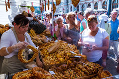 Het vieren St Stephen Dag in Boedapest Stock Afbeeldingen