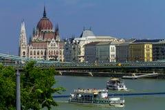 Het vieren St Stephen Dag in Boedapest Royalty-vrije Stock Fotografie