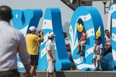 Het vieren stichting van Guayaquil, 24 Juli Stock Foto's