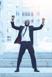 Het vieren succes royalty-vrije stock afbeeldingen