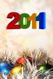Het vieren van 2011 Stock Foto