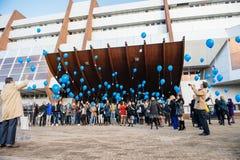 Het vieren van de eerste Europese Dag op de Bescherming van Kinderen Stock Afbeelding