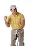 Het vieren van de golfspeler stock fotografie