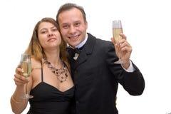 Het vieren van de man en van de vrouw Stock Afbeeldingen