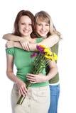 Het vieren van de moeder en van de dochter de dag van de moeder Royalty-vrije Stock Afbeelding