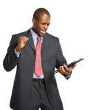 Het Vieren van de zakenman Stock Afbeelding