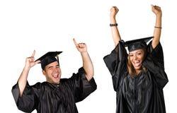 Het Vieren van gediplomeerden Stock Fotografie
