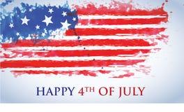 Het vieren van het Vierde van Juli vector illustratie