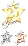 Het vieren van 25 Jaar/eps Royalty-vrije Stock Afbeelding