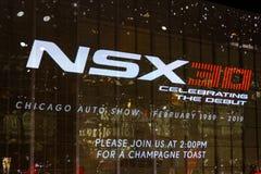 Het vieren van 30 jaar van NSX-achtergrond royalty-vrije stock foto's