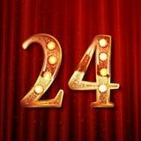 Het vieren van 24 jaar verjaardags Stock Afbeeldingen