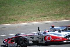 Het Vieren van Jenson Button Stock Foto