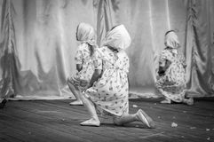 Het vieren van 9 Mei, prestaties van kinderen Royalty-vrije Stock Foto
