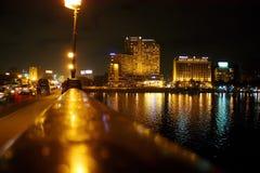 Het vieren van nieuw jaar in Kaïro in Egypte Stock Foto's