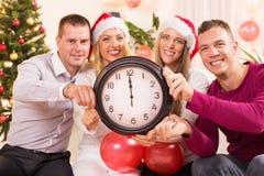 Het vieren van Nieuwjaar Stock Foto's