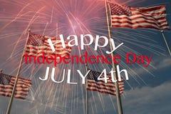 Het vieren van 4 van Juli Stock Foto