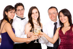 Het vieren van vrienden Royalty-vrije Stock Foto